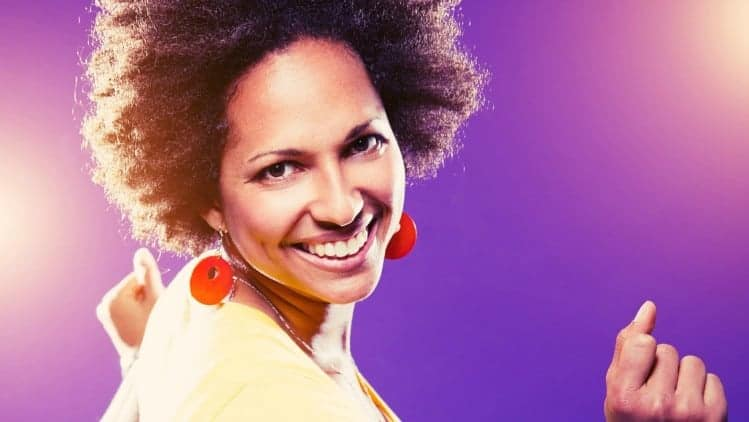 Afro american woman dancing