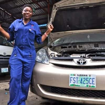 Because of Sandra, More Women are Becoming Mechanics in Nigeria