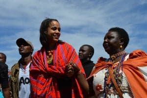 """British actress Zawe Ashton and Agnes Pareyio, who underwent female genital mutilation as a girl in Kenya, are two of the activists featured in""""Stop Cutting Our Girls,"""" a documentary opposing the practice"""
