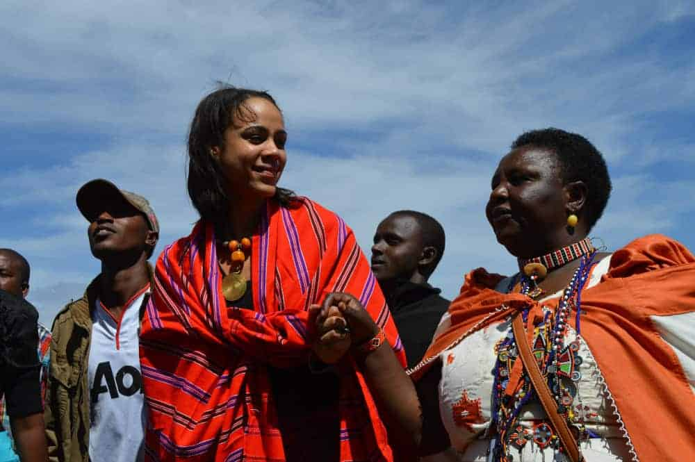 "British actress Zawe Ashton and Agnes Pareyio, who underwent female genital mutilation as a girl in Kenya, are two of the activists featured in ""Stop Cutting Our Girls,"" a documentary opposing the practice"
