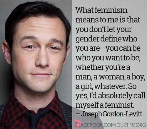 Feminism Joseph Gordon Levitt