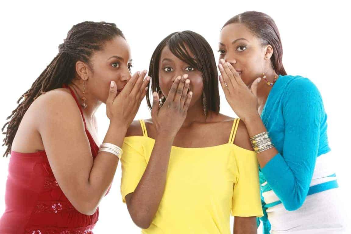 Three Girls Whispering (Medium)