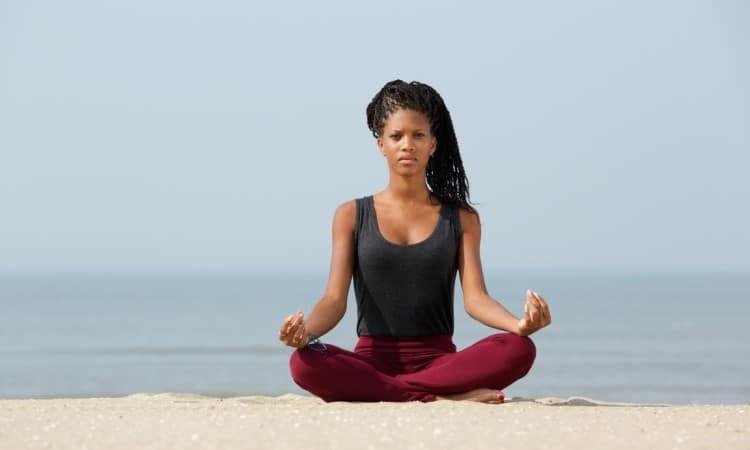 Yoga Pose at the Sea (Medium)