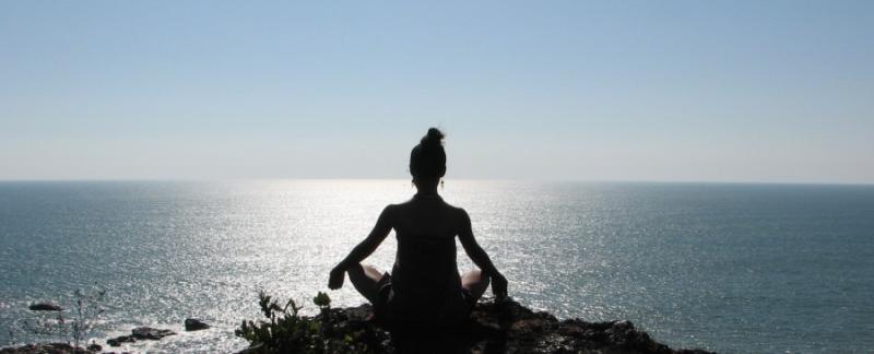 Healing-looking-at-ocean