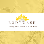 Body Wash, Honey and Shea Butter with African Black Soap