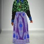 African Print Skirt-Maxi, Purple and Blue Dashiki