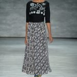 African Print Skirt-Maxi, Black and White Geometric Kente