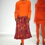 African Print Skirt-Orange Moon